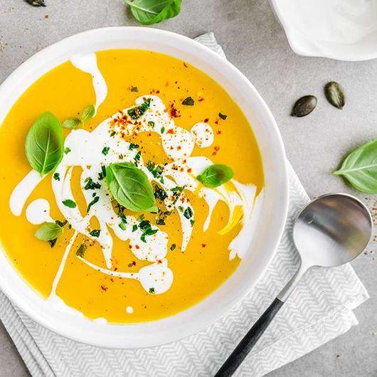 Creamy Pumpkin Soup from the Aurora Vacuum Blender & Soup Maker